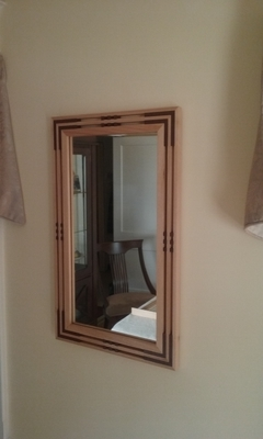 Arts & Crafts Mission/Prairie Style Hickory & African Mahogany Mirror | Mirrors