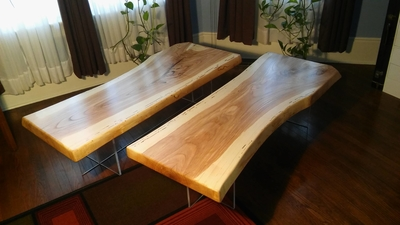 Ash Slab Coffee Tables (pair) | Unique Furniture and Gifts