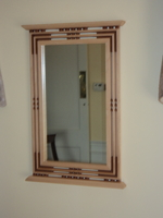 Image Handcrafted Arts and Crafts Mission/Prairie Style Sycamore & Cherry Mirror