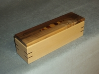 Image Pencil/Pen Box made of Maple and Walnut